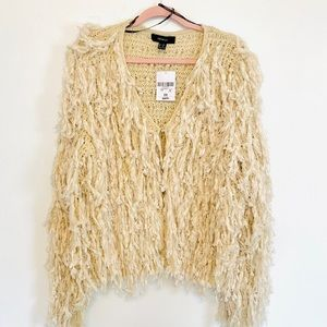 FOREVER 21 SWEATER CARDIGAN FRINGED
